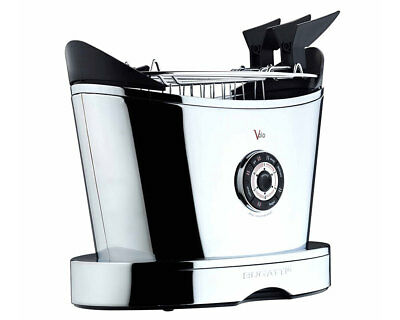 Bugatti 13-VOLOCR/UK Volo Chrome Finish 2 Slice Toaster