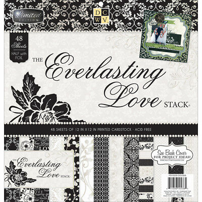"Diecuts With A View DCWV Paper Stack 12""X12"" 48/Pkg-Everlasting Love, 24 Designs"