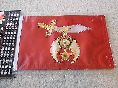 Shrine Shriner Motorcycle Flag 6x9 Heavy Duty USA MADE Rumbling Pride