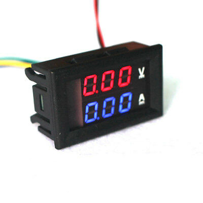 Mini Digital Voltmeter Ammeter DC 100V 10A Panel Amp Volt Current Meter Tester 0