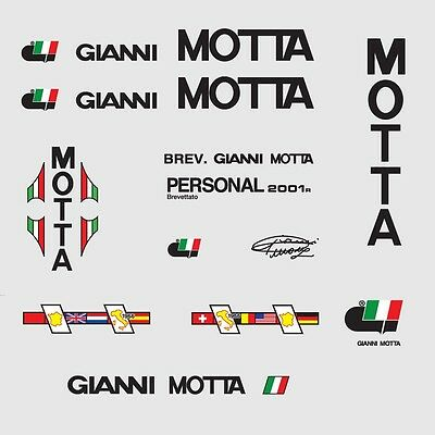 07101 Gianni Motta Bicycle Tubing Stickers Decals Transfers