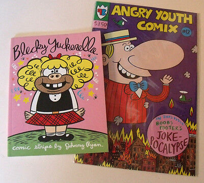 BLECKY YUCKERELLA Graphic Novel & Angry Youth Comix COMIC Johnny Ryan