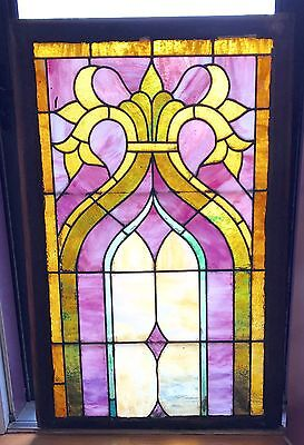 RARE ANTIQUE ~ Beautiful Stained Glass Church Window - 100+ Years Old ~ 2 Avail