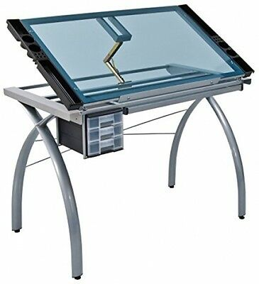 Studio Designs Art Desk Craft Station Table Drawing Sketching Work Glass Artist