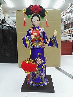 East China Doll Qing Dynasty Princess statue handmade silk cloth production