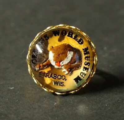 Vintage very RARE Circus World Museum Baraboo WI ring gold tone adjustable