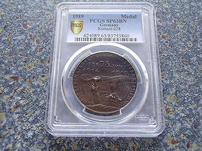 Germany Unicum 1919 by Karl Goetz Indiginity Contract of Versailles PCGS SP63BN