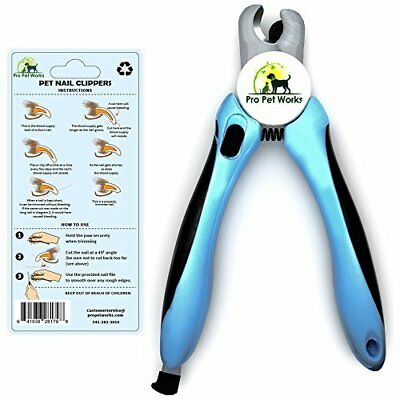 Pro Pet Works Cat and Dog Nail Clippers Trimmers With Nail File For Grooming