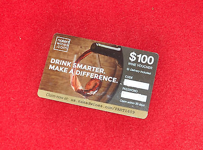 Wine Voucher $100 Naked Wines.com Gift Card