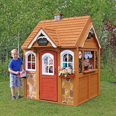 Wendy House Garden Play Childrens Outside Wooden Playhouse Outdoor Kids Kitchen