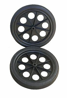 2 PC rear wheel spare for folding shopping car jumbo size