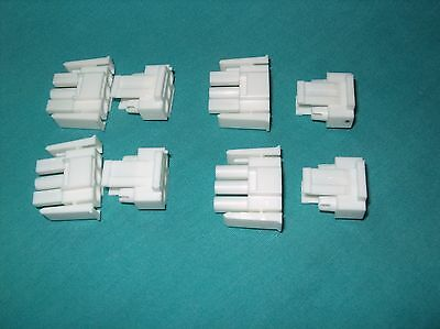 Lot Of 4 Te / Amp 3 Pos Rectangular Housing Plug 2 Pc.kit 770018-1 New