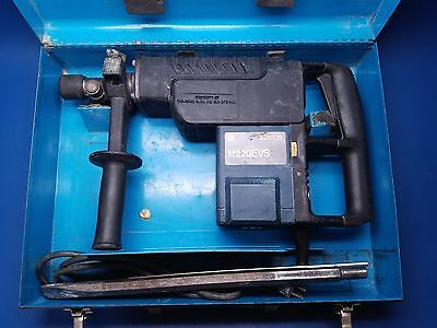 """Bosch 11220Evs Corded Electric 1-1/2"""" Spline Hammer Drill With Case & Chisel Bit"""