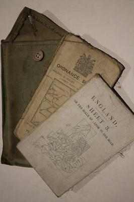 WW1 British Officers Training Maps in Case