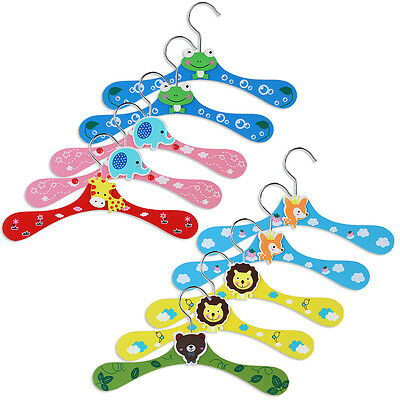 10x Kids Children Baby Color Clothes Trousers Shirts Pants Garment Coat Hangers