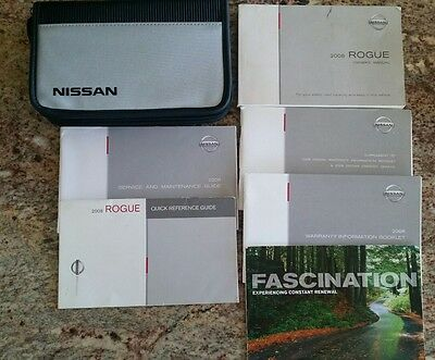 2008 Nissan Rogue Owners Manual with Case
