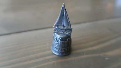 Milwaukee Wisconsin Sailboat Pewter Thimble