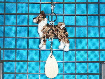 BASENJI #2 Dog crate tag or decorative hanging sign pet art ornament by artist