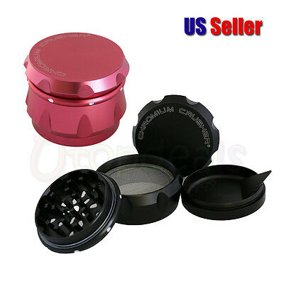 4 Piece T0bacco Herb Spice Grlnder Chromium Crusher Metal 2.5 Inch New