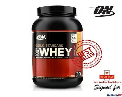 Optimum Nutrition Gold Standard 100% Whey Protein 908g / 2lb + Free Next Day !!