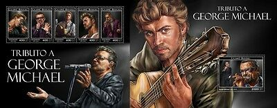 Z08 IMPERFORATED GB17210ab GUINEA-BISSAU 2017 George Michael MNH ** Postfrisch S