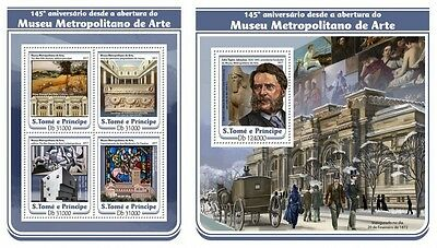 Z08 IMPERFORATED ST17111ab Sao Tome and Principe 2017 Metropolitan Museum MNH **