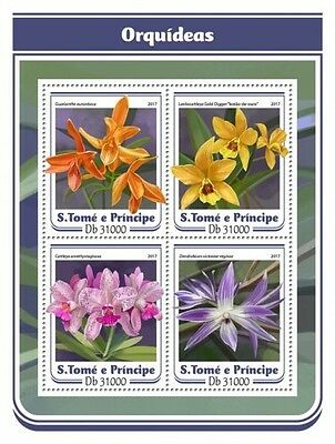 Z08 IMPERFORATED ST17114a Sao Tome and Principe 2017 Orchids MNH ** Postfrisch