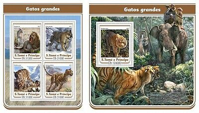 Z08 IMPERFORATED ST17115ab Sao Tome and Principe 2017 Big cats MNH ** Postfrisch