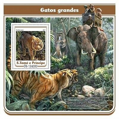 Z08 IMPERFORATED ST17115b Sao Tome and Principe 2017 Big cats MNH ** Postfrisch
