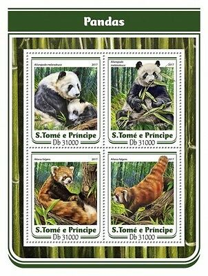 Z08 IMPERFORATED ST17116a Sao Tome and Principe 2017 Pandas MNH ** Postfrisch
