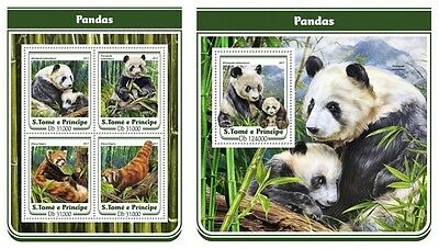 Z08 IMPERFORATED ST17116ab Sao Tome and Principe 2017 Pandas MNH ** Postfrisch S