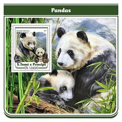 Z08 IMPERFORATED ST17116b Sao Tome and Principe 2017 Pandas MNH ** Postfrisch