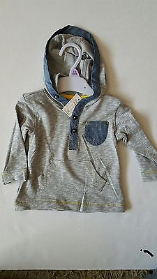 Long sleeve baby boys hoodie t-shirt top multiple sizes birth upwards  6-9months
