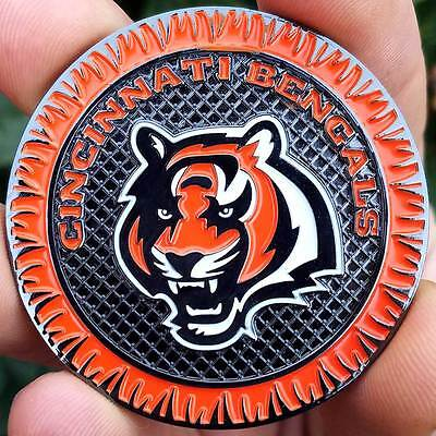 PREMIUM NFL Cincinnati Bengals Poker Chip Card Protector Coin NEW