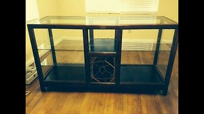 Antique Royer Mfg Co 1900's Retail Store Counter Or Display Cabinet. Wood Glass