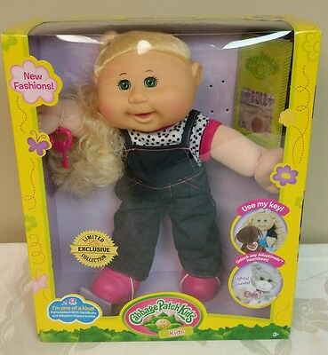 Cabbage Patch Kids Limited Exclusive Collection Blond Hair Green Eyes NIB