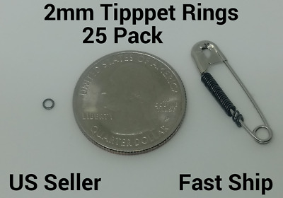 100 Premium Anti-Glare 2mm Fly Fishing Leader Tippet Rings Dry//Wet//Nymph
