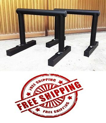 Fitness Chin Up Dip Bars Parallettes Push Equaliser Cross Training