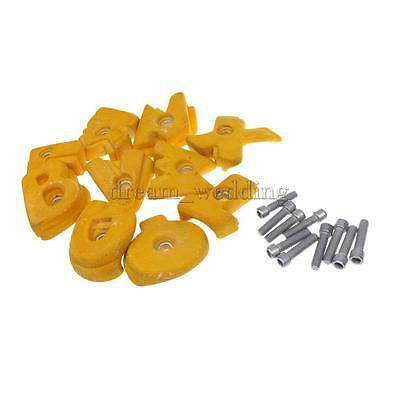10Pc/Set Kids Adult Training Rock Climbing Wall Holds Hand Feet Holds Yellow