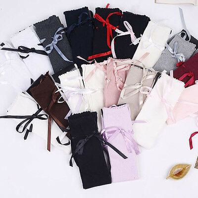 Ladies Girls High Stocking Thigh High Bowknot Stockings Knitting Stockings Hot