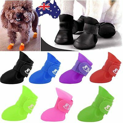 Dog Cat Rain Protective Boot Waterproof Puppy Pet Shoes Boots Anti-Slip S M LQ