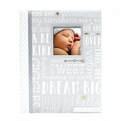 Lil' Peach Dream Big Wordplay Baby Memory Book, Gray