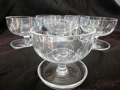 ART DECO BRANDED CRYSTAL Sweet Bowls , WELBY CRYSTALEngland