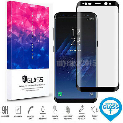 Full Cover Tempered Glass Screen Protector-Samsung Galaxy S9 S9+ S8 Plus Note 8
