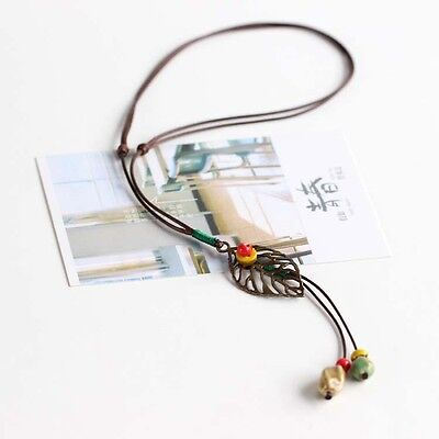 fashion national wind fresh hand made ceramic Necklace sweater chain jewelry