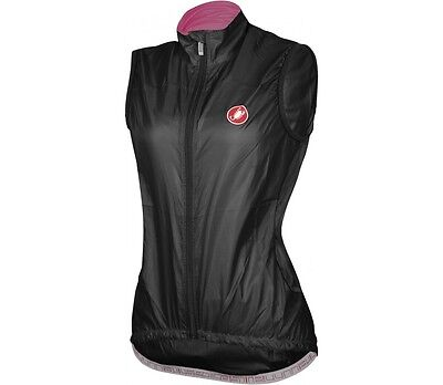 Castelli VELO WOMENS CYCLING VEST Rain Protection BLACK - X Small Or X Large