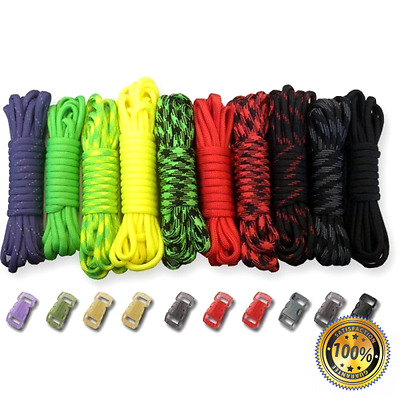 Paracord Planet 550lb Type III Paracord Combo Crafting Kits with Buckles (ZOMBIE