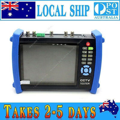 "7"" CCTV TFT-LCD Cam HD Monitor 12V Video Tester VGA+HD-SDI In/Out+TDR HVT-3600ST"