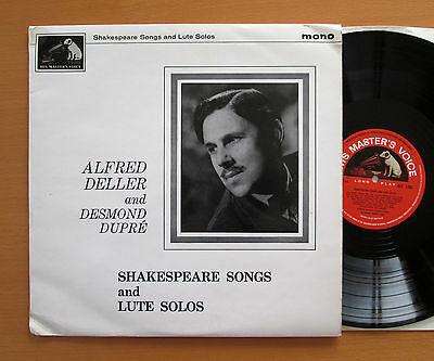 ALP 1265 Shakespeare Songs & Lute Solos Alfred Deller Desmond Dupre EX/VG