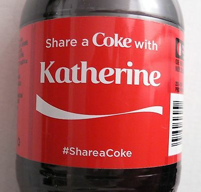 Rare Coca-Cola Share A Coke With KATHERINE 20 oz Bottle - HTF your